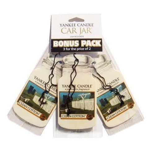 Yankee Candle Car Jar Bonus Clean Cotton 3 Szt Marki